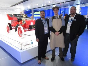 Craig with Ammar Khan (Social Media Manager, Ford Canada), and a Henry Ford impersonator at NAIAS 2013.