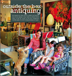 antiquing outside the box